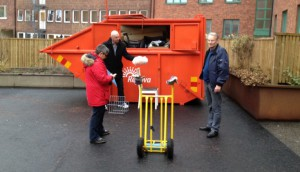Containern fylld redan efter 30 minuter